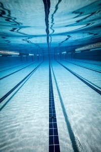 Clear water swimming pool